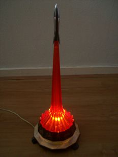 Vintage night lamp rocket made in the USSR