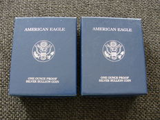United States - Dollar 2001 and 2004 'American Eagle' - silver