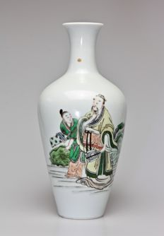 Chinese Famille Verte Vase - late 19th Century