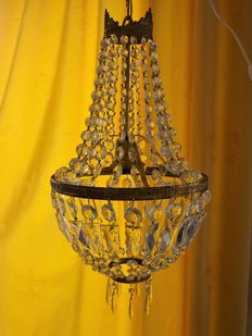 Bronze pocket chandelier, France, ca. 1920