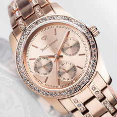 Yves Camani Mielle Ladies Watch Rose Gold Gilded Zirkonia