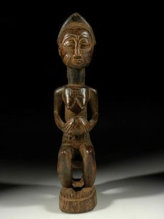 Wonderful Asie Usu fetisch female figure - Baoulé - Ivory Coast