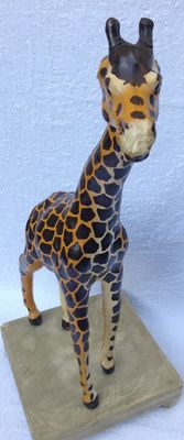 Design leather giraffe, large format!!!!