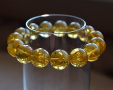 Genuine amber bracelet, 21 g, lemon. No reserve.