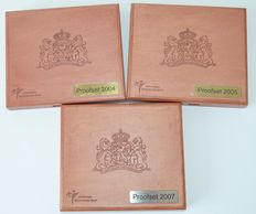 The Netherlands – Year packs (Proof), 2004, 2005 and 2007