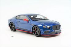 GT-Spirit - Scale 1/18 - Bentley Continental GT3-R 2015 Black Edition - Sequin Blue