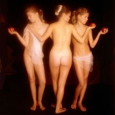 Photo; David Hamilton - Les 3 graces: Hommage a Raphael-21st century