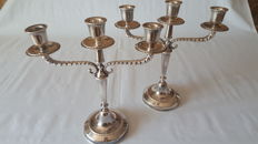 Pair of candelabra in Silver 800