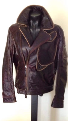 Armani Jeans - leather aviator jacket