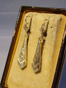 Victorian earrings with ornamental decoration