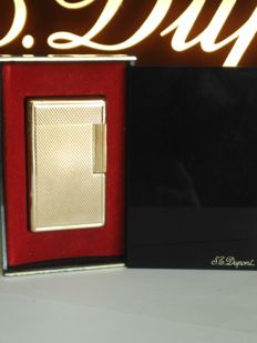 S.T. Dupont Lighter line 1 BS Large model gold-plated + original Bakelite box