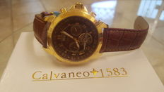 "Calvaneo 1583 Astonia ""Luxury Cognac Gold"" Men's wristwatch - Never worn"