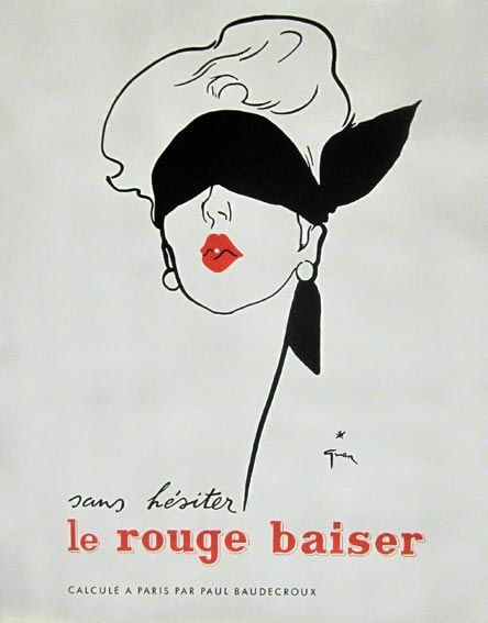 René Gruau / Jean Facon-Marrec - Gaine Scandale / Rouge Baiser - 1950s