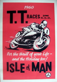 Nostalgic Poster - T.T. Races June 1960 - Isle of Man