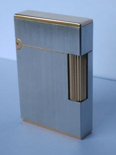 S.T Dupont Paris lighter line 2 gold and silver plated