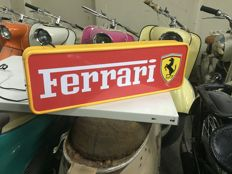 Exclusive Ferrari 62 x 21 x 8 cm double -sided Illuminated - advertising Lightbox 90s from Italy Milano