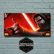 Star Wars The Force Awakens: Kylo Face Glass Poster 50X25 cm