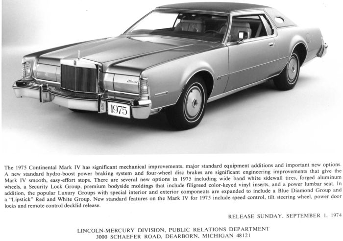 Lincoln Continental Mark IV 1973, Versailles 1977 ½, 1978