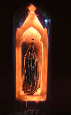 Unusual Piece - Lamp with Shrine of Our Lady