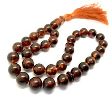 Islamic prayer beads of Baltic amber, Ø 11.5 mm, weight: 34.7 grams