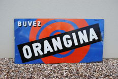 Advertising plate Orangina - 1980