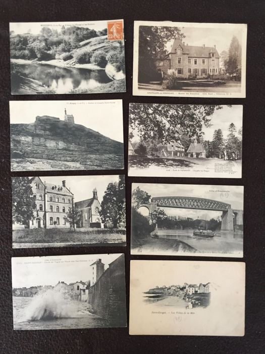 Lot of about 400 postcards, Brittany, Rennes and surroundings and various France - early 20th century to the 1960s