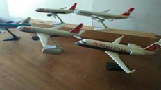 Colection of 5 (airline) scale aeroplanes - LAUDA AIR, KLM, AUSTRIAN AIRLINES.