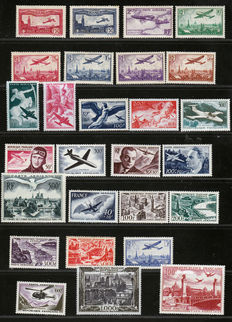 France 1930/1959, Airmail collection of 48 stamps with Yvert numbers between 5 and 63.