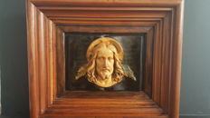 Christ in Work High Relief Patinated