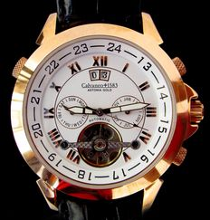 Calvaneo 1583 – 'Astonia Rose Gold' – CM-ASG-07. Large calendar – Automatic – Men's wristwatch – Never worn – Year 2016.
