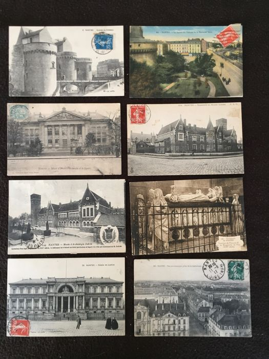 Lot of about 550 postcards, Nantes and surroundings and various France - early 20th century to the 1960s