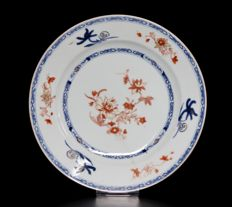 Fine blue and iron-red and Plate (ex Bonhams) - China - ca. 1750
