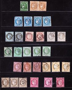 France, 1870/1873, lot of Ceres Bordeaux and the Third Republic -  Yvert numbers 42-58.