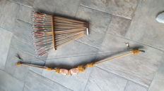 Bow and arrow with beautiful carvings and 20 arrows