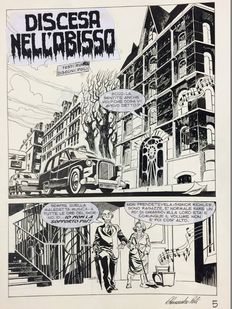 "Poli, Alessandro - original page - Dylan Dog 278 - ""Discesa nell'abisso"""