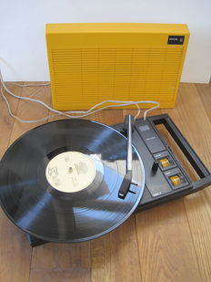Philips Stereo 100 - Portable Turntable - 1970's
