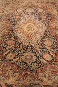 Beautiful oriental carpet - Indo - vases - Kashmar - 260 x 340 cm - made in India - end of the 20th century