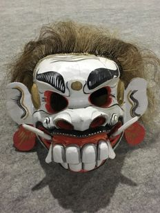 Wooden mask of a follower of Rangda - Bali - Indonesia