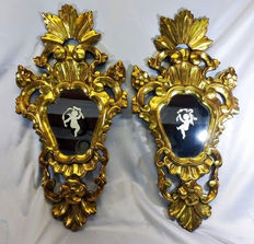 A pair of Spanish cornucopias Real Fábrica de Cristal de La Granja, Segovia, early 19th century.