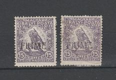 Italy – Fiume, 1918-1922 – Selection of stamps