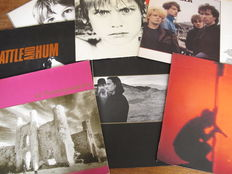 Nice Lot with 7 albums of U2
