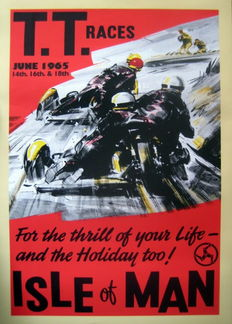 Nostalgische Poster - T.T.Races June 1965 - Isle of Man