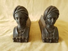 Beautiful antique fireplace bucks (andirons) from France