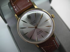 Poljot DE LUX - men's wristwatch - made in CCCP - 1970s - slim vintage classic - 23 JEWELS - GOLD Plated