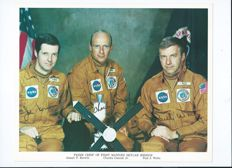 NASA first Skylab crew lithograph with auto pen signature
