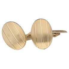 Yellow gold decorated vintage cufflinks