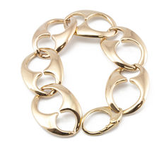 Cable rope motif bracelet in yellow gold – Length: 20 cm