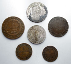 Kingdom of Sardinia and Italy - Lot of 6 pieces