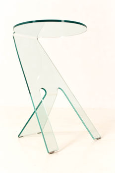 Vittorio Livi for Fiam Italy – glass side table