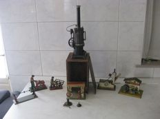Carette, Germany - Steam engine with accessories - early 1900s